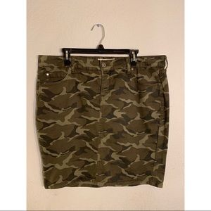Torrid Camo Pencil Skirt